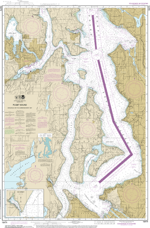 NOAA Nautical Chart 18474: Puget Sound-Shilshole Bay to Commencement Bay