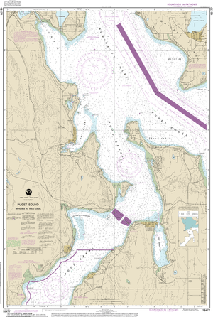 NOAA Nautical Chart 18477: Puget Sound-Entrance to Hood Canal