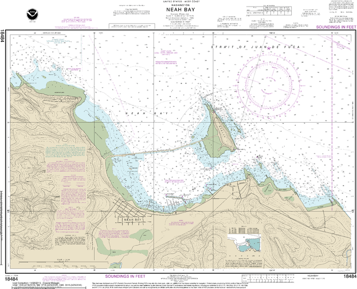NOAA Nautical Chart 18484: Neah Bay