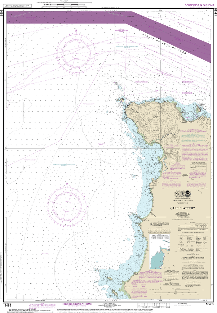 NOAA Nautical Chart 18485: Cape Flattery