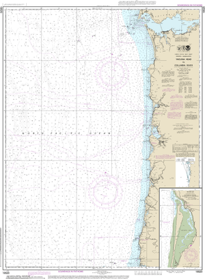NOAA Nautical Chart 18520: Yaquina Head to Columbia River;Netarts Bay