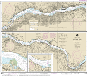 NOAA Nautical Chart 18532: Columbia River Bonneville To The Dalles; The Dalles; Hood River