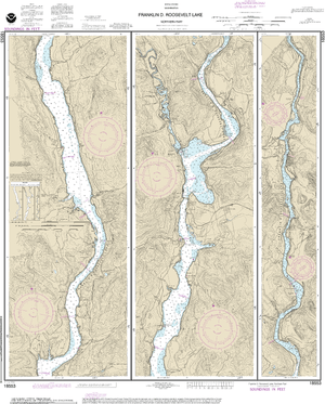 NOAA Nautical Chart 18553: FRANKLIN D. ROOSEVELT LAKE Northern part