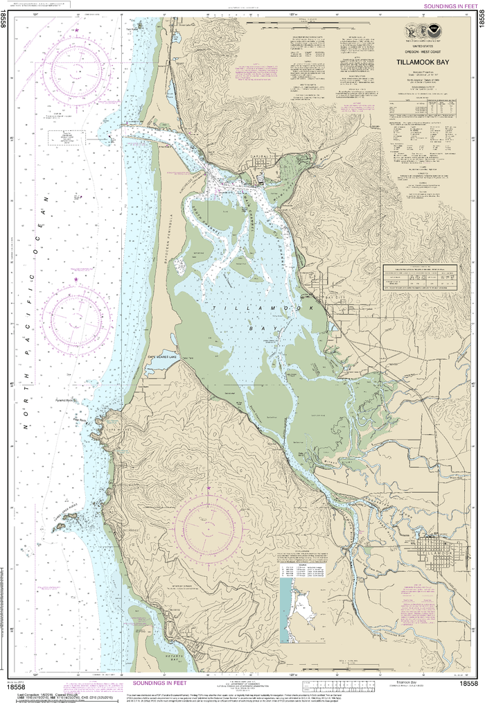 NOAA Nautical Chart 18558: Tillamook Bay