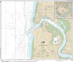 NOAA Nautical Chart 18581: Yaquina Bay and River;Continuation of Yaquina River
