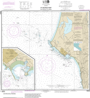 NOAA Nautical Chart 18603: St. George Reef and Crescent City Harbor;Crescent City Harbor