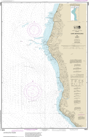 NOAA Nautical Chart 18623: Cape Mendocino and vicinity