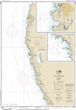 NOAA Nautical Chart 18626: Elk to Fort Bragg;Fort Bragg and Noyo Anchorage;Elk