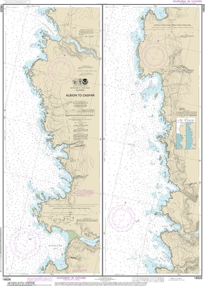 NOAA Nautical Chart 18628: Albion to Caspar