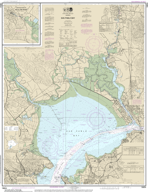 NOAA Nautical Chart 18654: San Pablo Bay