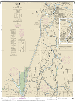 NOAA Nautical Chart 18662: Sacramento River Andrus Island to Sacramento