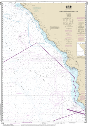 NOAA Nautical Chart 18700: Point Conception to Point Sur