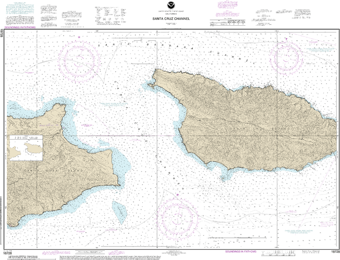 NOAA Nautical Chart 18728: Santa Cruz Channel