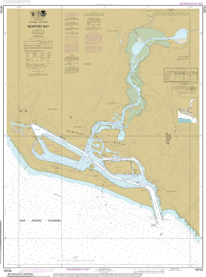 NOAA Nautical Chart 18754: Newport Bay