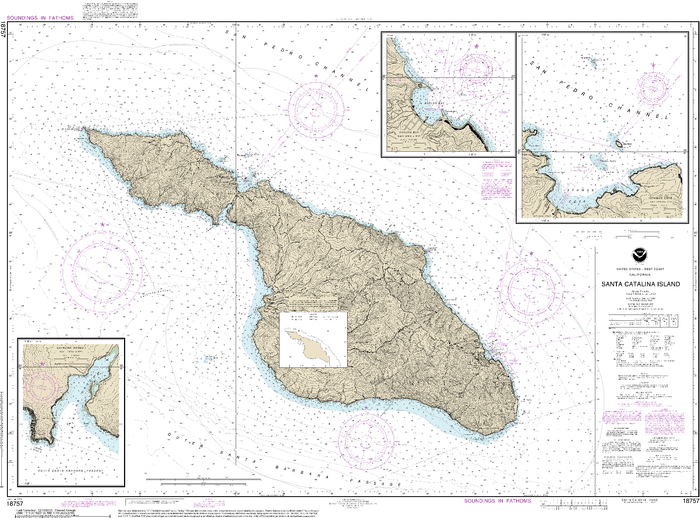 NOAA Nautical Chart 18757: Santa Catalina Island;Avalon Bay;Catalina Harbor;Isthmus Cove