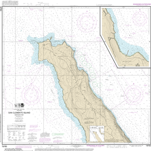 NOAA Nautical Chart 18763: San Clemente lsland northern part;Wison Cove