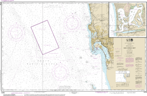 NOAA Nautical Chart 18765: Approaches to San Diego Bay;Mission Bay