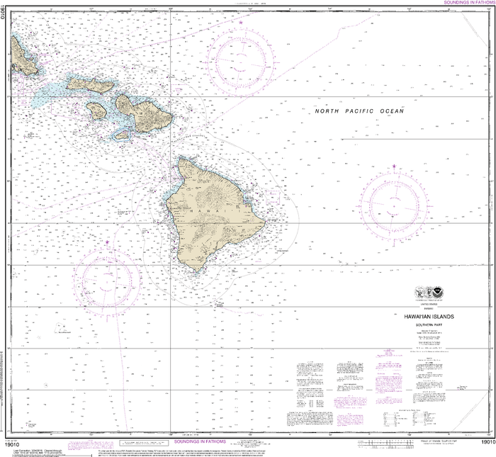 NOAA Nautical Chart 19010: Hawaiƒ??ian Islands southern part