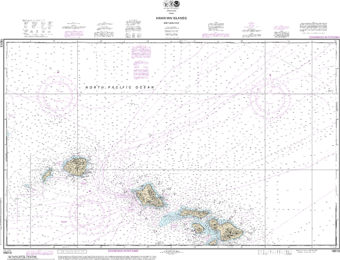 NOAA Nautical Chart 19013: Hawaiƒ??ian Islands northern part