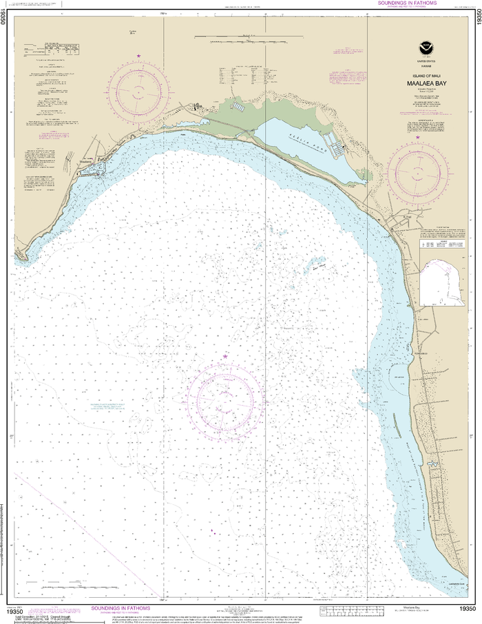 NOAA Nautical Chart 19350: Island of Maui Maƒ??alaea Bay
