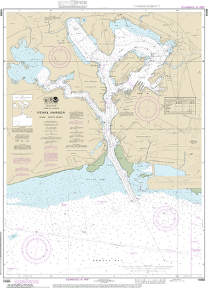 NOAA Nautical Chart 19366: Pearl Harbor Oƒ??ahu South Coast