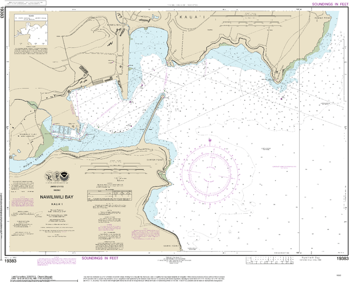 NOAA Nautical Chart 19383: Kauaƒ??i Nawiliwili Bay