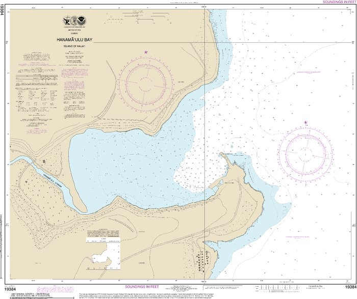 NOAA Nautical Chart 19384: Hanamaulu Bay Island of Kauaƒ??i