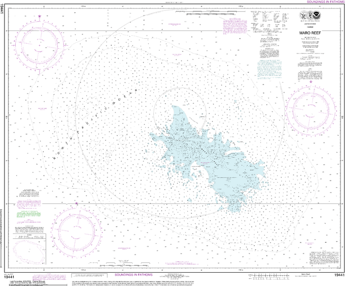 NOAA Nautical Chart 19441: Maro Reef