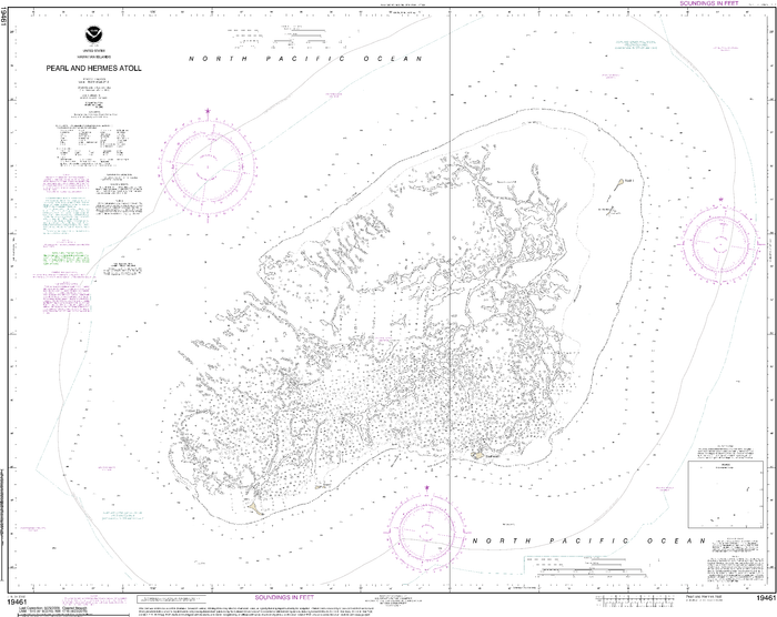 NOAA Nautical Chart 19461: Pearl and Hermes Atoll
