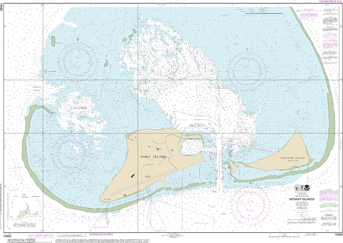 NOAA Nautical Chart 19482: Hawaiƒ??ian Islands Midway Islands