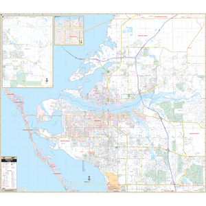 Bradenton Manatee Co, Fl Wall Map - Large Laminated