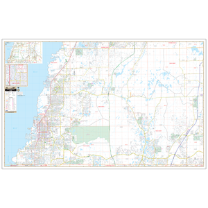 Pasco Co West, Fl Wall Map - Large Laminated