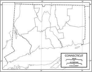 Kappa Map Group  connecticut outline map 50 pack paper or laminated