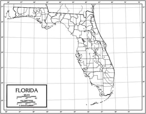 Kappa Map Group  florida outline map 50 pack paper or laminated