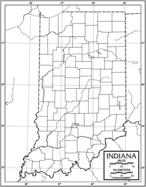 Kappa Map Group  indiana outline map 50 pack paper or laminated