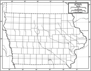 Kappa Map Group  iowa outline map 50 pack paper or laminated