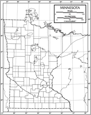 Kappa Map Group  minnesota outline map 50 pack paper or laminated