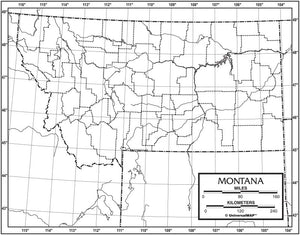 Kappa Map Group  montana outline map 50 pack paper or laminated