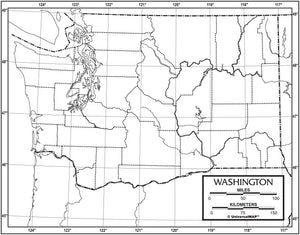 Kappa Map Group  washington outline map 50 pack paper or laminated