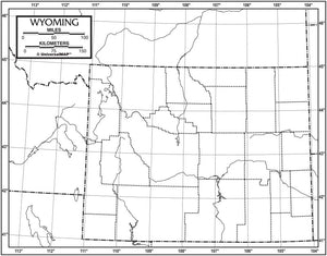 Kappa Map Group  wyoming outline map 50 pack paper or laminated