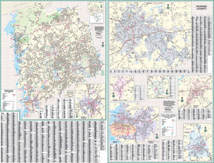 Pickens, Sc Wall Map By Kappa Map Group