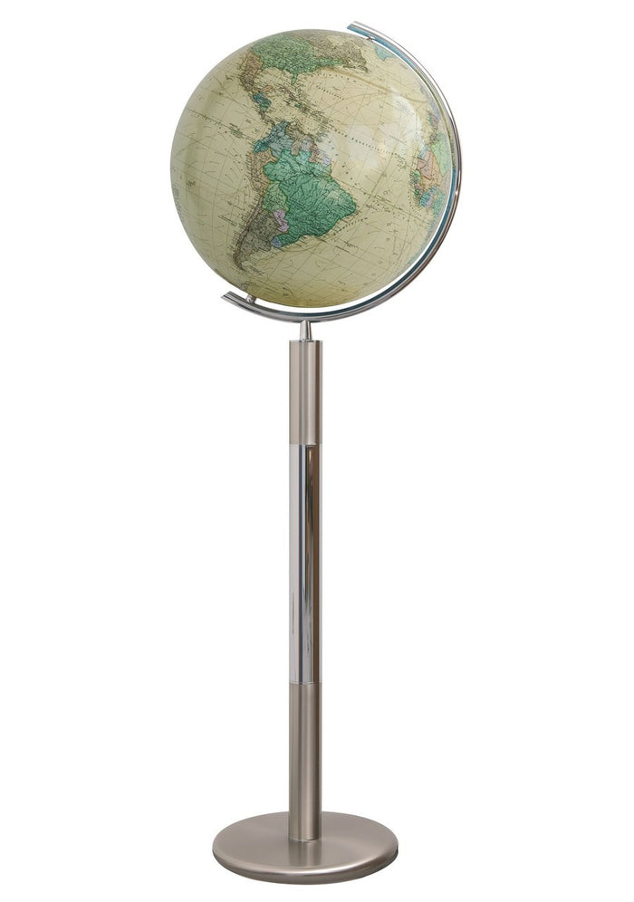 Hannover Royal Crystal Illuminated 16 Inch Floor World Globe By Columbus Globes