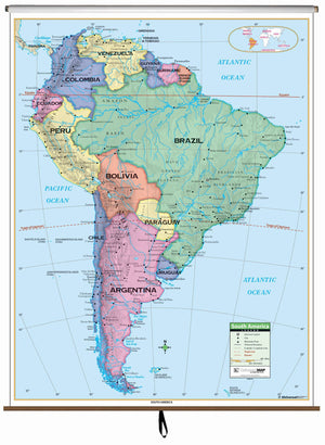Kappa Map Group  South America Primary Classroom Wall Map
