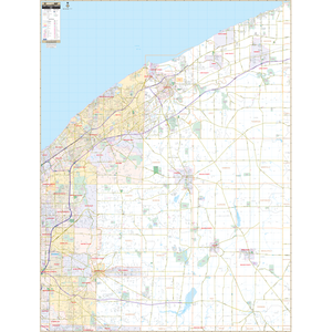 Lake And Geauga Counties, Oh Wall Map - Large Laminated