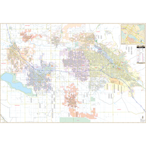 Boise, Id Wall Map - Large Laminated