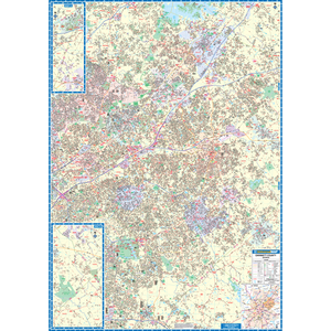 Gwinnett Co, Ga Wall Map - Large Laminated