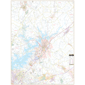 Gainesville Hall Co, Ga Wall Map - Large Laminated
