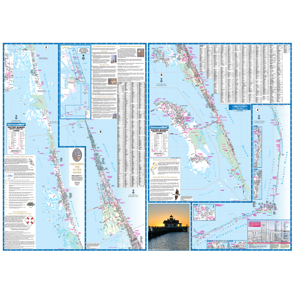 Outer Banks, NC Wall Map