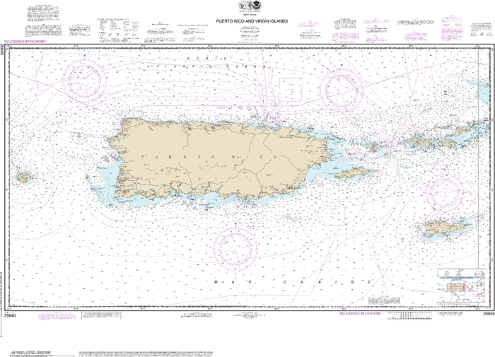 NOAA Nautical Chart 25640: Puerto Rico and Virgin Islands