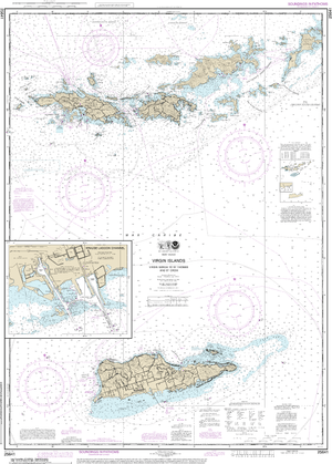 NOAA Nautical Chart 25641: Virgin Islands-Virgin Gorda to St. Thomas and St. Croix;Krause Lagoon Channel
